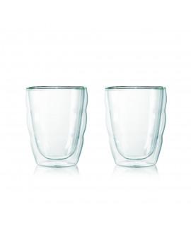 Set 2 verres, double paroi, 0.25 l