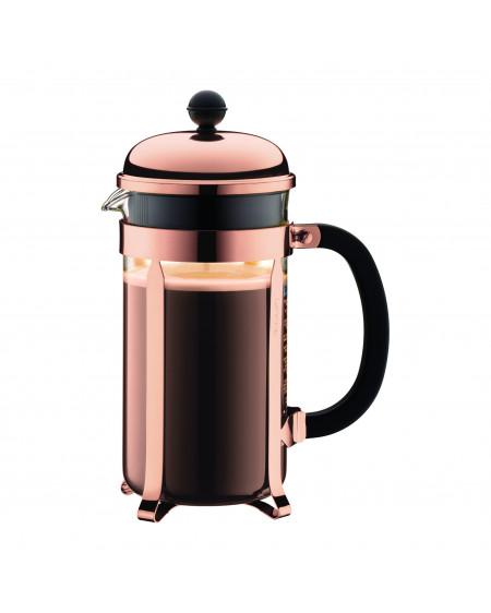 Cafetière à piston, 8 tasses, 1.0 l, acier inox