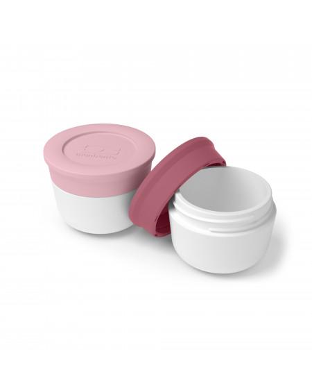 Récipients à sauce rose blush et flamingo