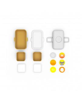 Bento enfants jaune moutarde