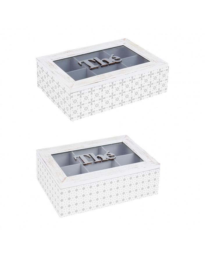 Boîte à thé rectangle